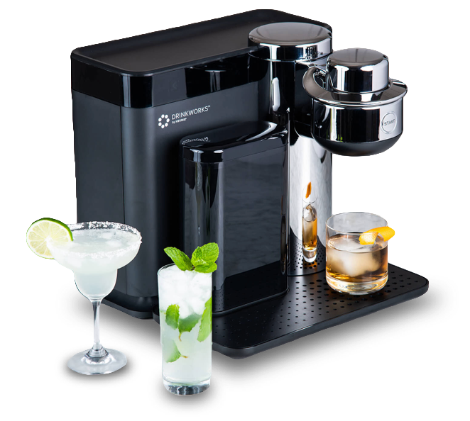 drinkworks machine with cocktails